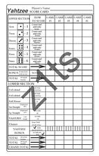 Yahtzee Score Pads (Sheets, Cards or Refills)