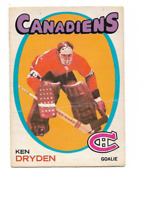 1971-72 O-Pee-Chee #45 Ken Dryden RC Rookie Montreal Canadiens ***