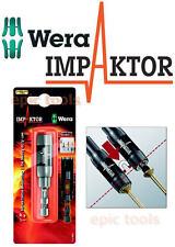 "WERA IMPAKTOR TRI-Torsion 1/4"" Hex Ringmagnet Impact Driver Bit Holder, 073990"