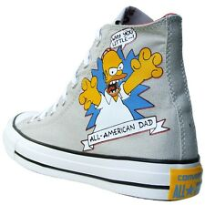 Converse All Star Chucks EU 41,5 GB 8 Bart Homer Simpsons Gris Limitado Edición