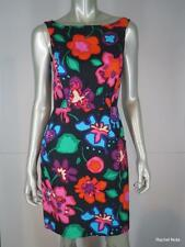 NWT $398 KATE SPADE 2 XS Linen Floral Bright Colorful Sheath Caitlin Dress NEW