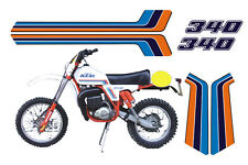 KTM GS 340 1981 cristal - adesivi/adhesives/stickers/decal