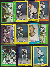 1973 / 74  Topps Team SET Lot of 11 Vancouver CANUCKS NM KURTENBACH SCHMAUTZ