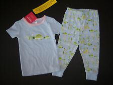NWT Gymboree Light Blue Turtle Gymmies Pajamas 12-18 Short Sleeve Long Pants