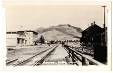 Carcross Yukon Railway Station General Store Real Photo RPPC Fair Unused