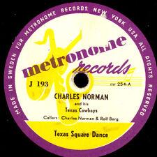 Charles Norman & His Texas Cowboy Texas Square Dance/Inget sa sött... s6491
