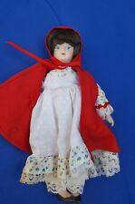 "Gorham, Little Red Riding Hood, Porcelain Doll - ornament- - 7.5"" (no box)"