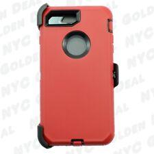 Red Black for Apple iPhone 8 Defender Case Cover (Belt Clip Fits Otter