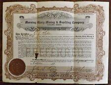 1928 MORNING GLORY MINING & SMELTING Company Stock Patagonia Arizona