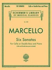 Six Sonatas For Cello or Double Bass and Piano  Paperback