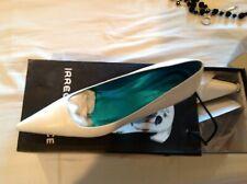 Irregular Choice White Leather 2 Inch Heel Shoe Women's Size 10. NEW