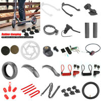 M365 Electric Scooter Parts Mudguard Support Charge Port Cover Back Belt Tire