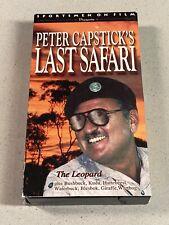 Peter Capstick VHS Last Safari The Leopard SF 9602 Sportsmen on Film Hunting