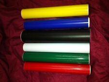"""2 Rolls Vinyl 12 """" x 10 Feet Sign Plotter Film White Black Red Green Blue Yellow"""