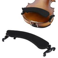 Adjustable Violin Shoulder Rest Pad Supporter Size 3/4 4/4 Height Angle Black