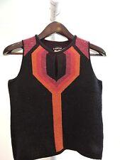 bebe Acrylic Blend Multi-Colored Sparkle Vest Size - Large