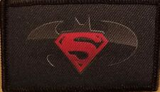 SUPERMAN / BATMAN LOGO Patch With VELCRO® Brand Fastener Funny Tactical  #6