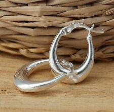 925 Sterling Silver Creole Hoop Earrings 13mm x 18mm Hoops Earrings Jewellery