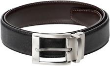 NEW Hugo Boss UTHAS 50181448 Leather Dress Belt Black Brown Reversable Size 30