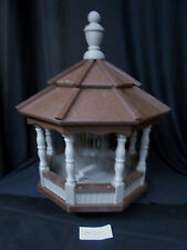 Poly Bird Feeder Amish Gazebo Handcrafted Homemade Clay & Brown Roof Md