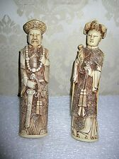 PAIR  OKIMONO FIGURINES