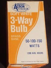 Vintage Action Tungsram Soft White 3-Way Light Bulb 1977 (BOX ONLY)