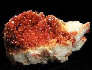 "3.25"" Superb Large Cherry Vanadinite Crystals on Matrix,  Morocco! 7M06"