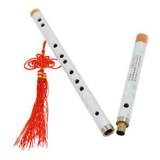 F Key White Chinese Bamboo Flute Dizi Traditional Pluggable Musical Instrument
