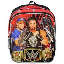 WWE John Cena Wrestling School Backpack Bookbag Championship Belt Boys Kids Gift