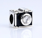 Silver Plated Sentimental Snapshots Camera Charm Fit European Brand bracelet UK