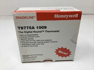 New Honeywell Home T8775A1009 Non-Programmable Thermostat White, Heat, 24V