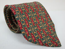 Brooks Brothers Makers Silk Tie Green With Red And Gold 58 x 3.75 New