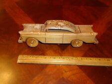 1955 Ford FAIRLANE ALL WOOD CAR MODEL hand made Carved Wooden Primitive Art