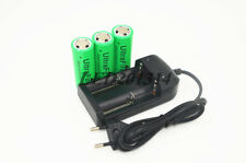 3x UltraFire 26650 3.7V 8000mAh Rechargeable Li-ion Battery+18650/16340 Charger