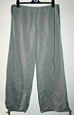 edc by esprit Women's Casual Grey 100% Cotton Drawstring Jeans Trousers Size L