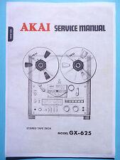 Service Manual-instrucciones para Akai gx-625