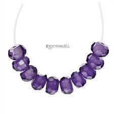 25 Cubic Zirconia Rondelle Beads 4mm Amethyst Purple #64256
