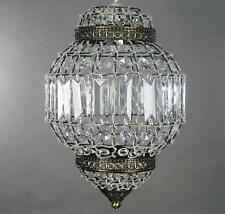 Classic Morrocan Lantern Style Antique Brass Clear Acrylic Ceiling Light Shade