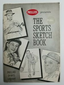 1959 Phillies Presnts THE SPORTS SKETCH BOOK Library Willie Mays 62pgs