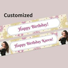 Custom 21st Birthday Wedding Personalised Banner School Party Decorations