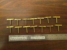 14 Central Scientific Brass Clips Holders Vintage