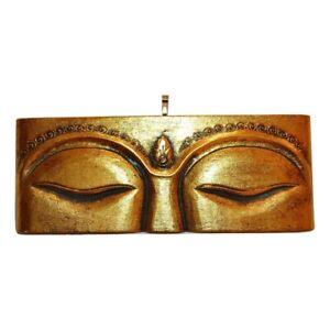 My Family House Wooden Buddha Eye Plaque with Mirror Jewel - Handmade