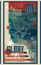 Fabric Wilmington Land of Liberty Panel Eagles Stars w/FREE Quilt Pattern