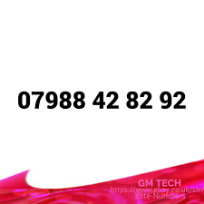 07988 42 82 92 EASY MOBILE NUMBER PAY AS YOU GO SIM CARD UK GOLD PLATINUM VIP