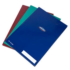 3 x Colour A4 Paper Notebooks Hardback 160 Page Lined Writing Office Books Pads