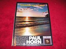 PAUL HORN - 1978 U.S. PROMO Magazine Ad 'Dream Machine' Album