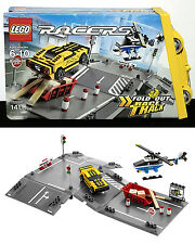 New CHOPPER JUMP Lego 8196 - FOLD OUT RACE TRACK Helicopter RACE CAR Carry Case
