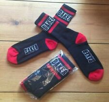 Baker Champion Black Red Football Tennis Sports Socks