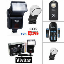 PRO HD LED FLASH + REMOTE + CHARGER + BATTERIES FOR ALL CANON EOS DSLR CAMERAS