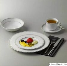 Royal Doulton Paramount Platinum 20 Piece Porcelain Dinnerware Set 4 Settings